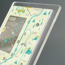 Tasca in plexiglass porta avvisi f.to A4