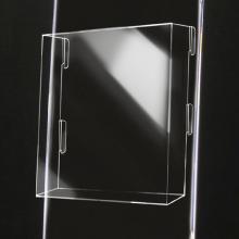 Tasca porta depliant in plexiglass f.to A4